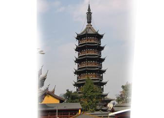 为无锡南禅寺铸造的铜塔刹