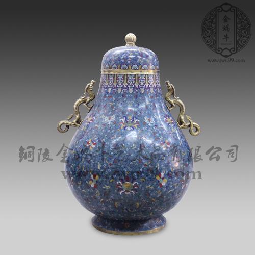 珐琅双龙葫芦宝瓶